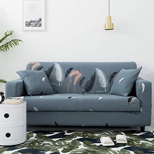 Funda de sofá elástica con Todo Incluido para Sala de Estar Funda de sofá con Estampado Floral Moderno y Flexible Fundas para sofá A16 4 plazas