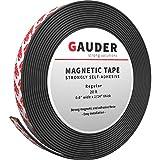 GAUDER Magnetband stark selbstklebend I Magnetstreifen I Magnetklebeband (15mm x 6m)