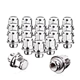 12x1.5 Lug Nuts 20 Pcs Chrome Closed End Mag Style Lug Nuts with Washer 13/16'' (21mm) Hex Compatible for Toyota Camry/Corolla/Tacoma Lexus 5 Lug 4 Lug Wheels