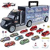 HAENPLE Toddler Toys for 3-5 Year Old Boys,Cars Truck Toys Transport Carrier Set,Die-cast Vehicles...