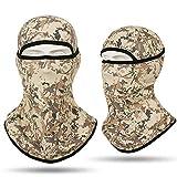 Freesom Cagoule Adulte Femm Homme Moto Camouflage Militaire Commando Ski Bonnet Polaire Style Tour de Cou Couvre-Chef Chapeau Casquette Casque Mode Sport Elastique Cadeau Pas Cher (Brun)