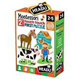 headu 1041742-montessori Touch First Puzzle, Set per bambini montessori, conoscenza del Mondo, Multicolore (1)