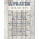 Son Prayer Wood Plaque with Inspiring Quotes 11.75'x15' - Vertical Frame Wall Decoration   Keyhole for Hanging   Dear Lord, one of The Greatest Gifts You've Given is The Gift of My Dear Son