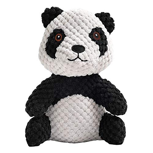 Beewarm Hundespielzeug für kleine Hunde, unzerstörbares Kauspielzeug, weiches Fell, niedlicher Panda, quietschendes Hundespielzeug