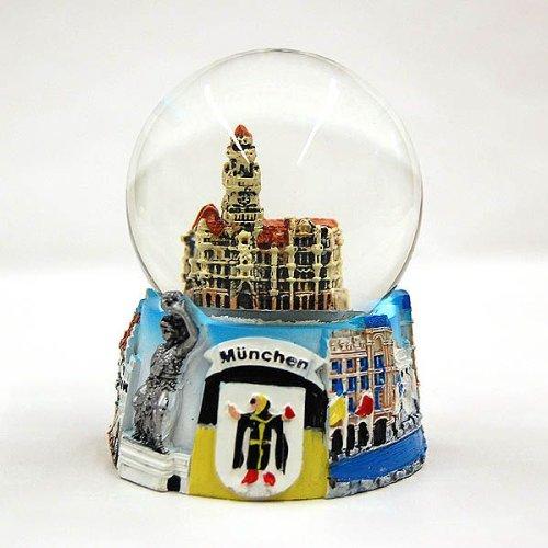 City Souvenir Shop Relief-Schneekugel München Rathaus