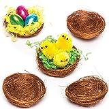 Baker Ross E8623 Mini Nidos de Pájaros (Paquete de 15) Esencial para manualidades decorativas de Pascua y Primavera