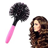 3D Bomb Curl Hair Brush Styling Salon Round 360°Ball Brush Making Curly Hair Sphere Curler Comb Hair Tool