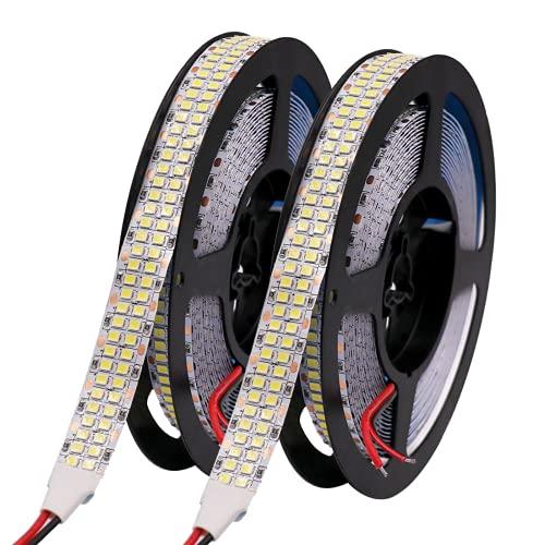 Tiras de LED 12V 24V Tira de luz LED SMD 2835 Lámpara de luz de cinta LED flexible 5M Luces LED a prueba de agua Diodo de cinta de rayas Blanco Blanco cálido RGB