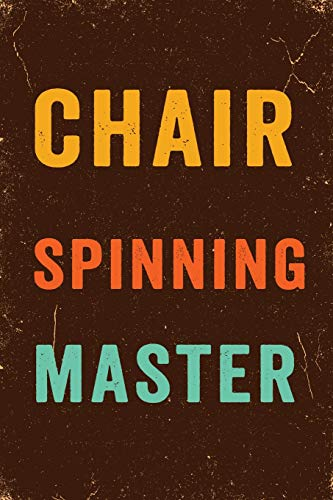 Chair Spinning Master Notebook Vintage: Funny Wide-Ruled Notepad for Coworkers