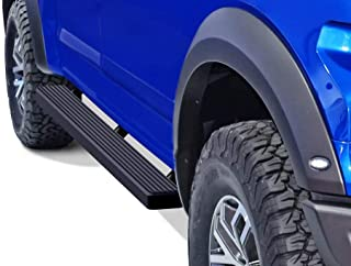 APS iBoard Running Boards 4in Black Custom Fit 2015-2020 Ford F150 SuperCrew Cab Pickup..
