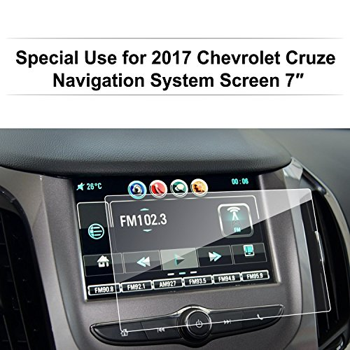 LFOTPP Glass Car Navigation Screen Protector for 2016-2018 Cruze 7 Inch MyLink,[9H] Clear Tempered Glass Center Touch Screen Protector Against Scratch High Clarity