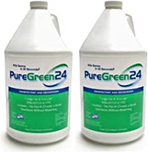 PureGreen24 (2 Gallon Pack) Disinfectant, Kills Deadly Germs Including 2020 Flu & NoroVirus Without The use of Toxic Chemicals.