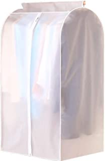 Garment Shoulder Covers Bag, for Travel Storage Closet Clothes Suit Jacket Shirts Organizer with Matte white