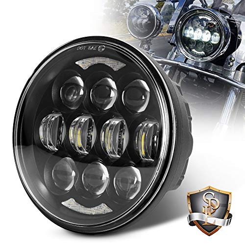 """80W DOT Approved 5-3/4"""" 5.75"""" Osram Chips LED Projector Headlight for Harley Motorcycle/Bike(Black)"""