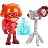 Simba 109402363 - PJ Masks Spielfigur Eulette / Pyjamaheld / Action Figur / beweglich / Zubehör mit Licht / 8cm groß, für Kinder ab 3 Jahren