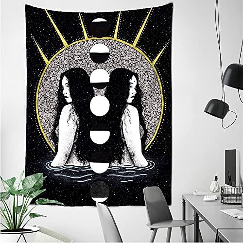 KHKJ Tapiz de Hongos de Muerte psicodélico Colgante de Pared Colorido Abstracto Bohemio Hippie brujería Dormitorio decoración del hogar A9 95x73cm