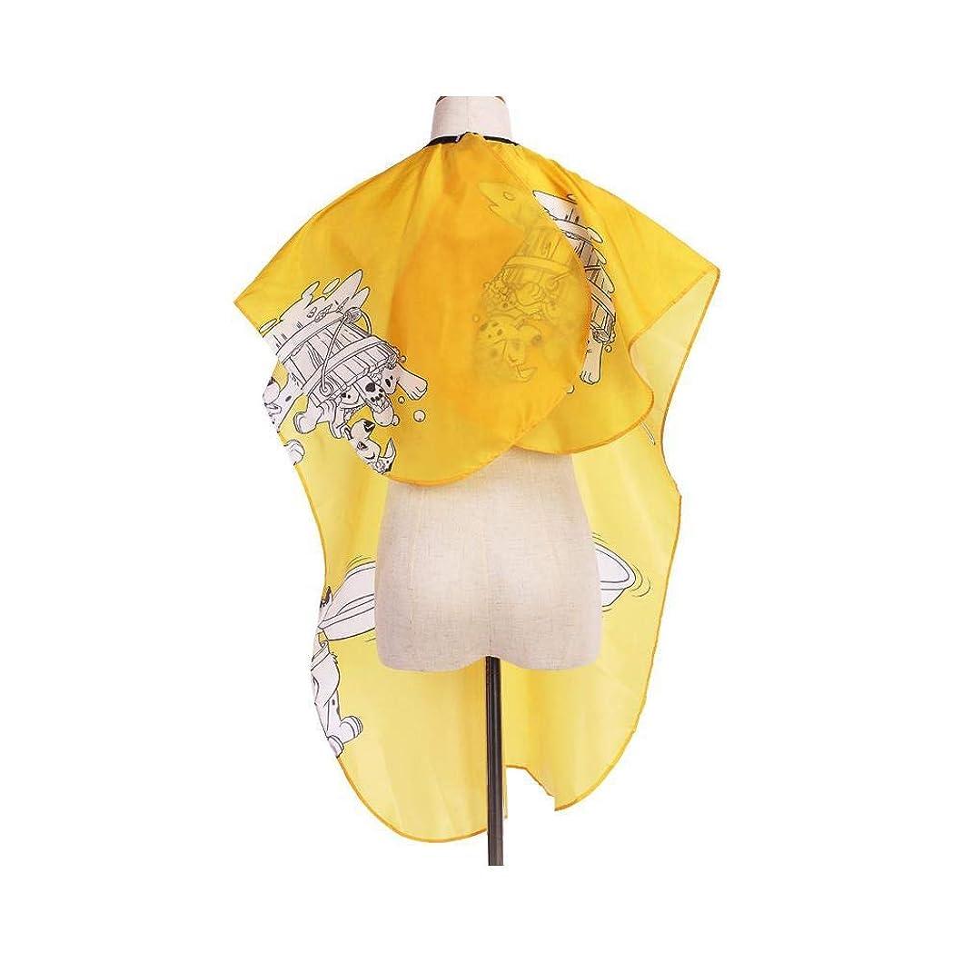 ルームシャッフル改修ユニセックスのプロの美容師は、カットと色の黄色の全長ケープをスタイリングする髪のためのガウンを防水します ヘアケア