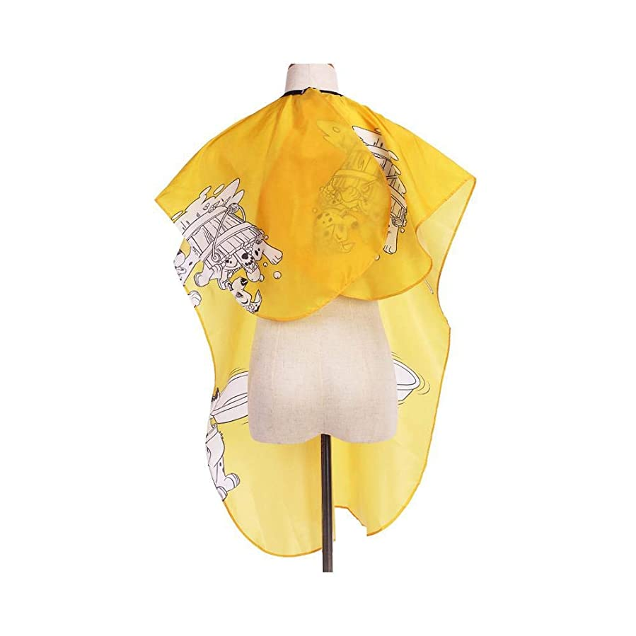 トーク支給類人猿ユニセックスのプロの美容師は、カットと色の黄色の全長ケープをスタイリングする髪のためのガウンを防水します モデリングツール