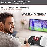 DUR-line +Ultra Single LNB – 1 Teilnehmer schwarz – mit LTE-Filter, 1-Fach, digital, Full HD, 4K, 3D,Premium-Qualität - 9