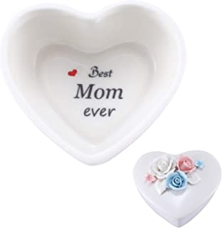 Mom Birthday Gifts Personalized Gifts for Mom from Daughte/Son, Ceramic Jewelry Box Ring Dish Decorative Trinket Box Home ...