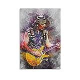 Leinwand-Poster, Gitarre, Rocksängerin, Carlos Santana,