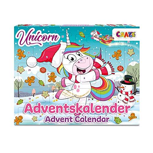CRAZE Calendari dell'avvento da Unicorno - Calendario di Natale 2021 con sorprese e giochi.