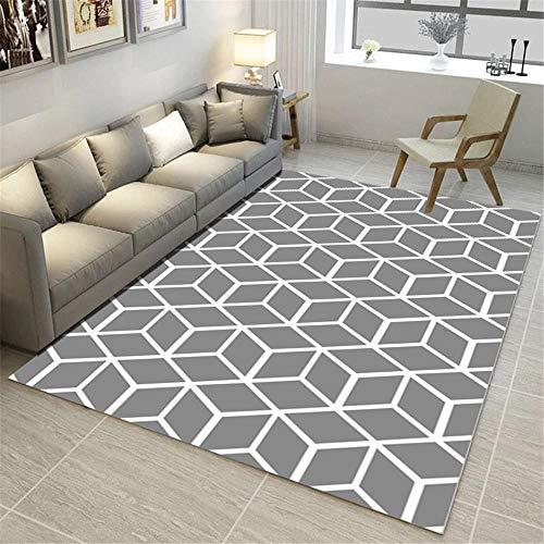 Kunsen Alfombra para niños alfombras habitacion Bebe Dormitorio Gris Sala de Estar Alfombra Rectangular Duradera y no deformada moqueta 120x160cm 3ft 11.2' X5ft 3'
