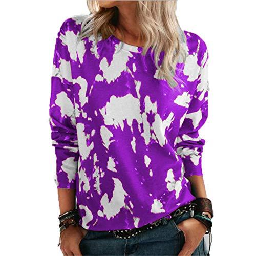 Herbst Und Winter Frauen Loose Round Neck Langarm Bedrucktes T-Shirt Top Frauen