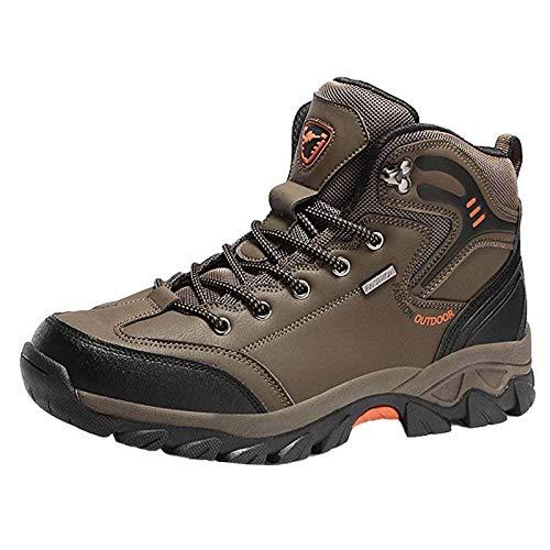Xmiral Herren Laufschuhe Traillaufschuhe Sportschuhe Turnschuhe Sneakers Schuhe für Outdoor Fitnessschuhe Joggingschuhe(47,Braun)