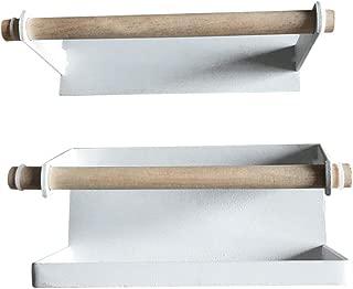 Cabilock Umbrella Stand Rack Iron Magnetic Wall Mounted Walking Stick Cane Holder Storage Organizer for Hallway Entryway (White)
