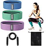 Elastic bands for Exercise,Resistance Bands Set for Women Butt and Leg and Kids Fitness, Workout Bands for Working out,Booty Band and Ropes Skipping for exercise,Jump Rope for booty Weight Exercise.