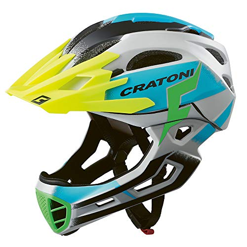 707764VAR - Casco Bicicleta Ciclismo C-Maniac Pro MTB Color Gris/Azul Talla 58-61