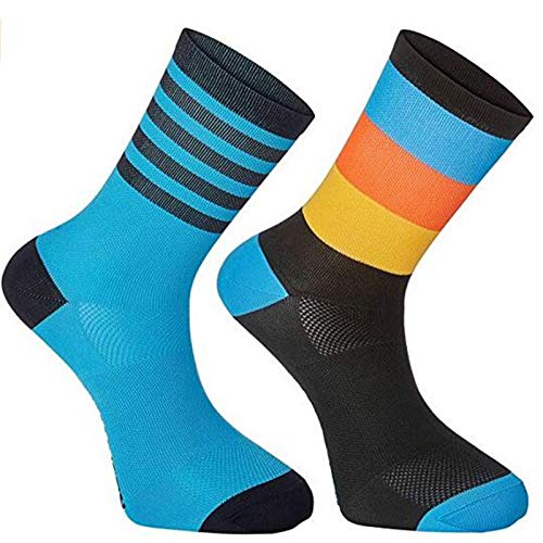 ZhuaKafeEU Calcetines de Ciclismo Top Calidad Profesional Marca Sport Socks Transpirable Bicicleta Sock Outdoor Racing Gran tamaño 6 Colores (Color : Neon, Size : 39 TO 45)