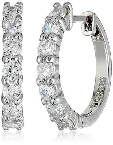 Amazon Essentials Sterling Silver Hinged Huggie Hoop Earrings