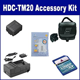 Panasonic HDC-TM20 Camcorder Accessory Kit includes: SDM-130 Charger, KSD2GB Memory Card, SDC-27 Case, ZELCKSG Care & Cleaning, SDVWVBG130 Battery