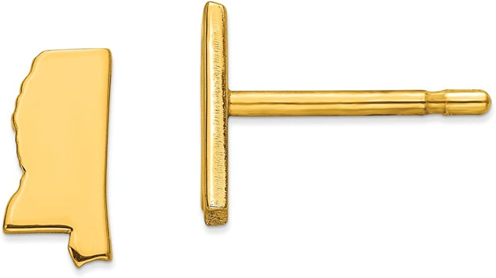 925 Sterling Silver Super beauty product restock quality top! Yellow Gold-Plated MS New arrival Earr Studs State Small