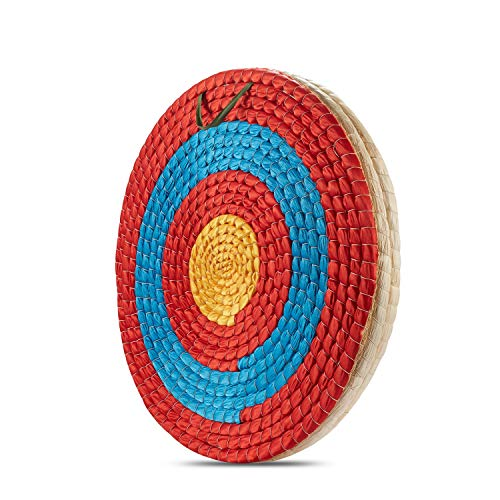 KAINOKAI Traditional Hand-Made Straw Archery Target,Arrow Target for Recurve Bow Longbow or Compound Bow(Traditional Target Dia Φ:19.7in / 3 Layers)