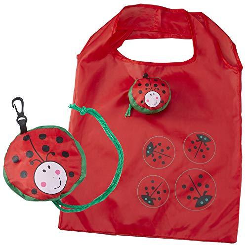テントウムシ エコバッグ 虫 昆虫 アニマル 動物 キャラクター 折りたたみ 折り畳み ショッピングバッグ 買い物袋