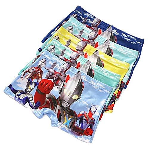 DTZW Calzoncillos tipo bóxer de algodón para niños, 4 unidades, diseño de héroe de dibujos animados para niños de 2 a 7 años (tamaño: XXL, color: D)