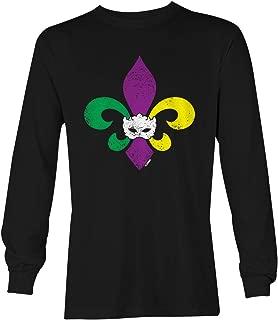 Mardi Gras Fleur De Lis - Masquerade Mask Unisex Long Sleeve Shirt