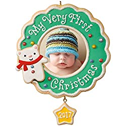 baby's first christmas ornament cookie