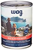 Amazon Brand - Wag Wet Canned Dog Food, Beef & Chicken Recipe, 12.5 oz Can (Pack of 12)