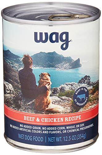 Amazon Brand – Wag Wet Canned Dog Food 12.5/13.2 oz