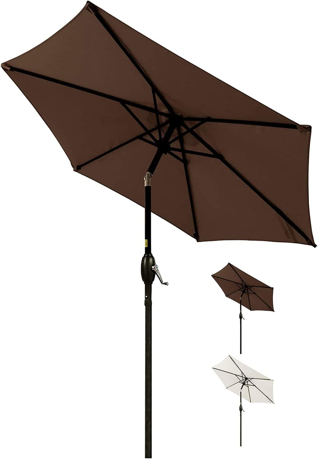SFJ-CA 7.5 FT Patio Umbrella Outdoor Small Sunbrella Nashville-Davidson Mall Tilt Table Translated