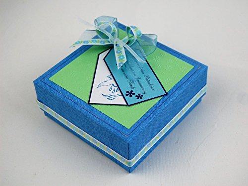 Patengeschenk/Patenbrief/Erinnerungsbox - blau für Taufe *HANDMADE*