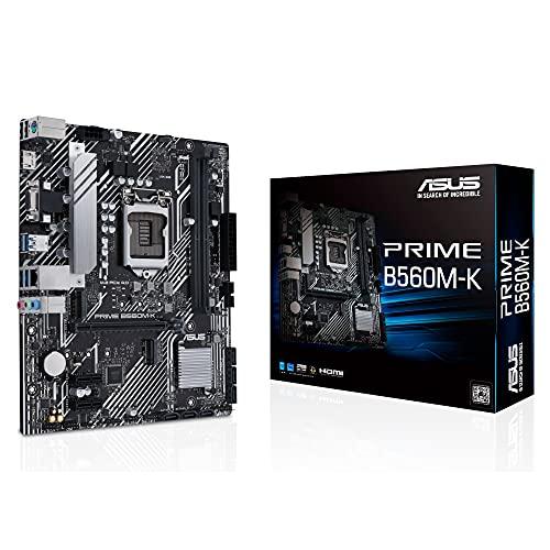 ASUS Prime B560M-K - Scheda madre Micro ATX, Intel B560 LGA 1200 con VRM a 8 fasi, PCIe 4.0, due slot M.2, 1 GB Ethernet, HDMI, D-Sub, USB 3.2 Gen, 1 posteriore, connettore TPM, RGB direzionabile