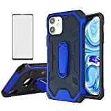 Asuwish Compatible with Samsung Galaxy S4 and Tempered Glass Screen Protector Cover Cell Accessories Stand Kickstand Rugged Hybrid Phone Cases for Galazy S 4 Gaxaly SIV 4s GT-I9500 I9500 GS4 Blue
