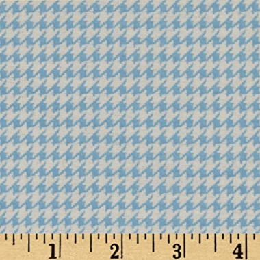 A.E. Nathan Comfy Flannel Houndstooth Blue Fabric By The Yard