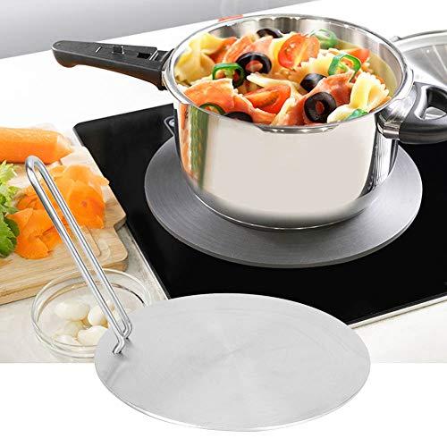Placa de inducción de calor, acero inoxidable Difusor de calor Placa de inducción Adaptador Convertidor Gas Cocina eléctrica Placa(24cm)