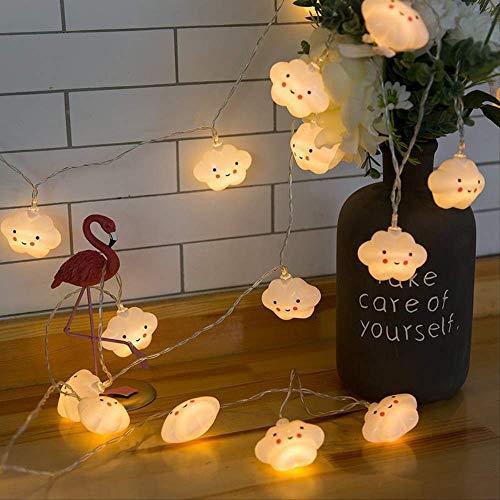 CFLFDC lichtsnoer, LED, kleurlicht, smiley-licht, lamp, ketting, wolk, lamp, decoratieve lamp (YU Mengyun), 2 m, 10 USB, licht (altijd ingeschakeld)